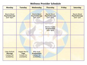 studio 34 wellness calendar